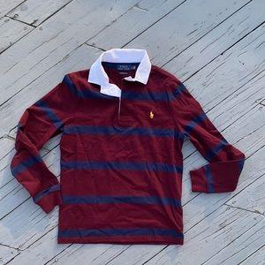 Polo by Ralph Lauren L/S Stripe Custom Slim Polo S